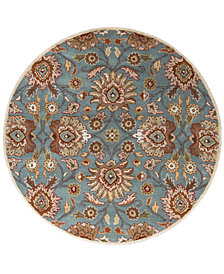 Surya Caesar CAE-1052 Medium Gray 6' Round Area Rug