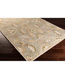 "Surya Caesar CAE-1140 Medium Gray 9'9"" Square Area Rug"