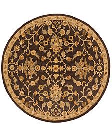 Surya Caesar CAE-1151 Dark Brown 4' Round Area Rug