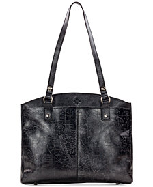 Patricia Nash Metallic Embossed Map Poppy Shoulder Bag