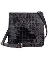 Patricia Nash Metallic Embossed Map Granada Crossbody 02c95f8638ec1