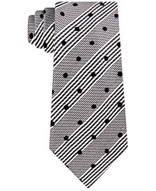 Sean John Men's Classic Flocked Dot Check Tie