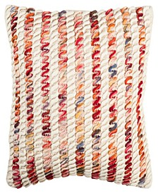 "Candy Cane Looped 20"" x 20"" Pillow"