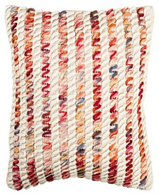 """Candy Cane Looped 20"""" x 20"""" Pillow"""