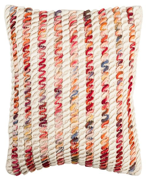 """Safavieh Candy Cane Looped 20"""" x 20"""" Pillow"""
