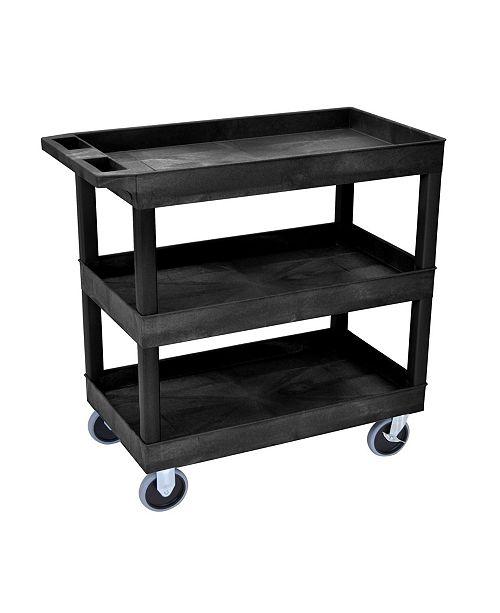 Clickhere2shop HD High Capacity 3 Tub Shelves Cart In