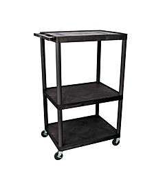 """LE54-B - 54"""" Endura A/V Cart - Three Shelves"""