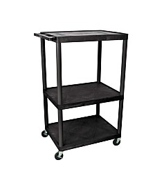 "Offex LE54-B - 54"" Endura A/V Cart - Three Shelves"