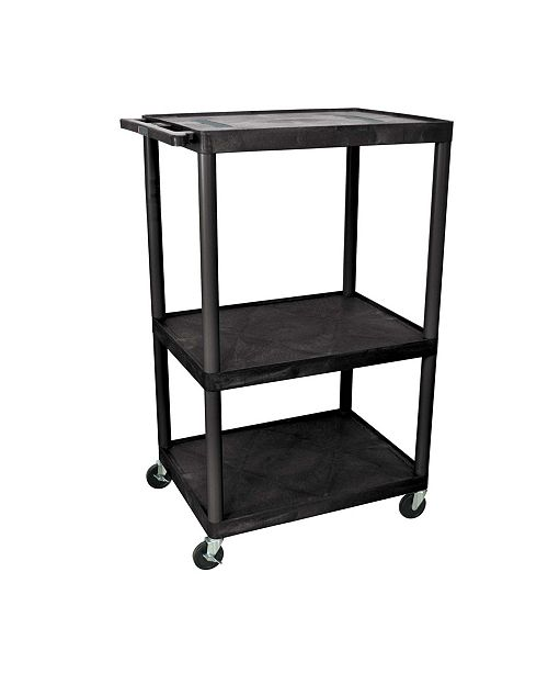 "Clickhere2shop LE54-B - 54"" Endura A/V Cart - Three Shelves"
