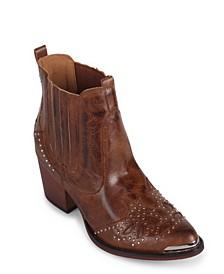 Lonestar Western Inspired Ankle Bootie