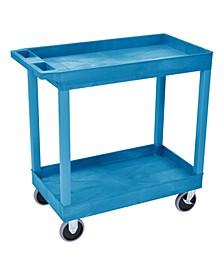 2 Tub Shelves Multipurpose Storage Utility Cart