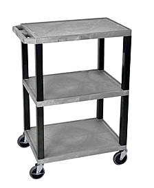Multipurpose Utility AV Cart 3 Shelves Legs
