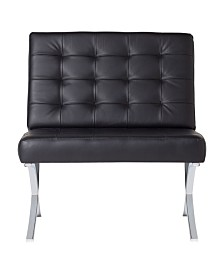 Offex Atrium Chair Bonded Leather - Black Bonded Leather