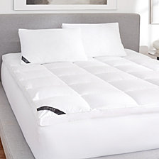 Regency 300 Thread Count Cotton Top Sateen Mattress Topper- Queen