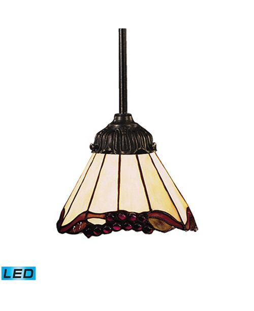 ELK Lighting Mix-N-Match 1-Light Pendant in Tiffany Bronze - LED Offering Up To 800 Lumens (60 Watt Equivalent)