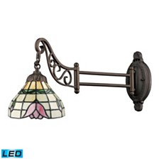 Mix-N-Match 1-Light Swingarm Sconce in Tiffany Bronze - LED Offering Up To 800 Lumens (60 Watt Equivalent)