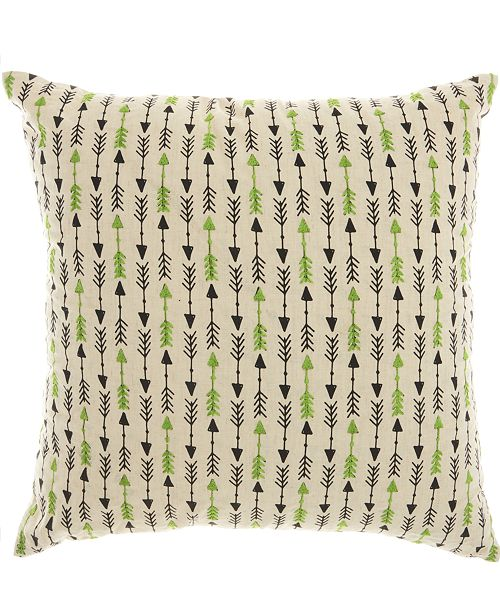 Nourison Mina Victory Trendy, Hip and New Age Embroidered Arrow Decorative Pillow