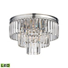 Palacial 3 Light Semi Flush in Polished Chrome