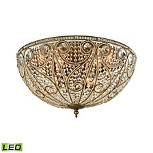 Elizabethan 10 Light Flush in Dark Bronze
