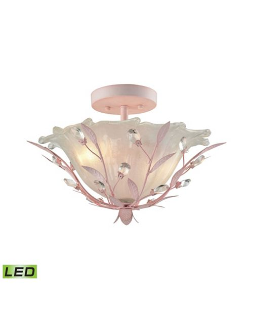 ELK Lighting Circeo 2 Light Semi Flush in Light Pink