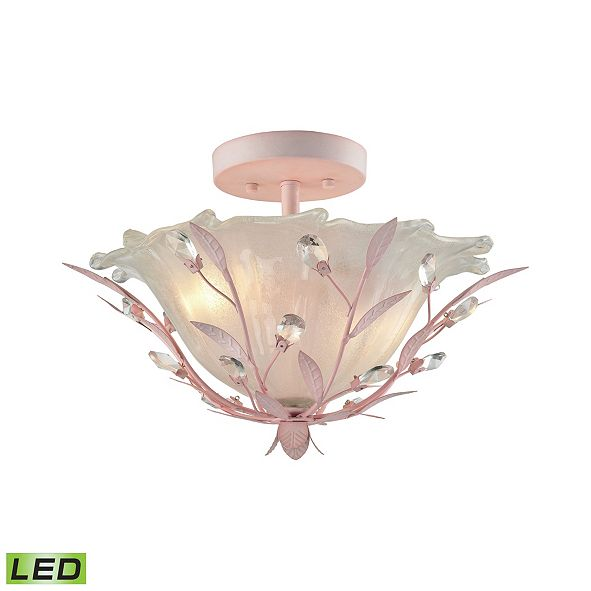 ELK Lighting Circeo 2 Light Semi Flush in Light Pink