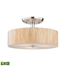 Modern Organics 3 Light Semi Flush in Polished Chrome