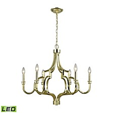 Livonia 6 Light Chandelier in Polished Gold