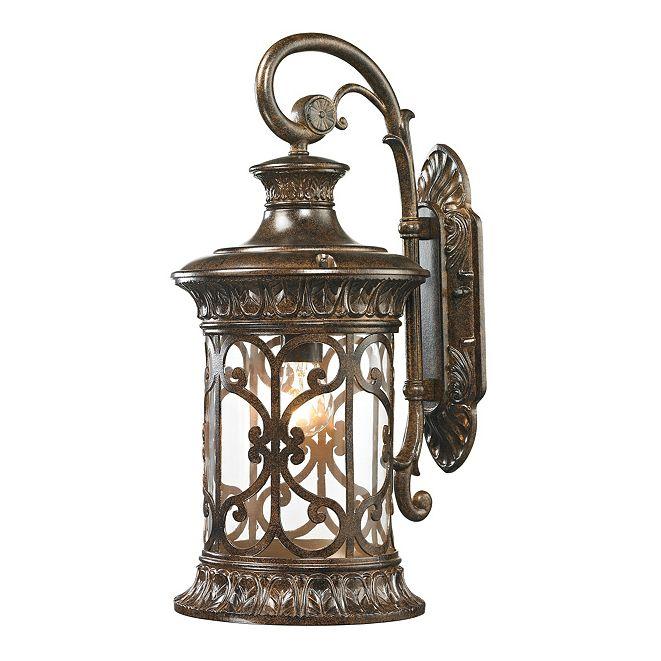 ELK Lighting Orlean Collection 1 light outdoor sconce in Hazelnut Bronze