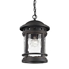 Costa Mesa 1 Light Outdoor Pendant in Weathered Charcoal