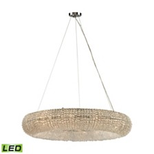 Crystal Ring 12 Light Chandelier in Polished Chrome