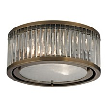 Linden Collection 2 light flush mount in Aged Brass