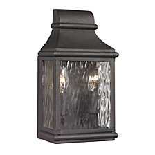 Forged Jefferson Collection 2 light outdoor sconce in Charcoal