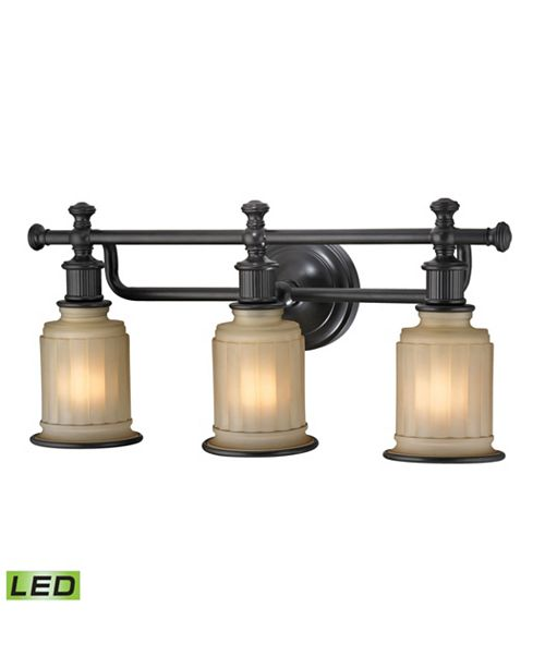 Acadia Collection 3 Light Bath In Oil Rubbed Bronze Led 800 Lumens 2400 Total With Full Scale Dimming Range