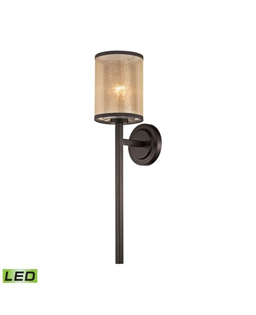 ELK Lighting Diffusion 1 Light Wall Sconce in Oil Rubbed Bronze