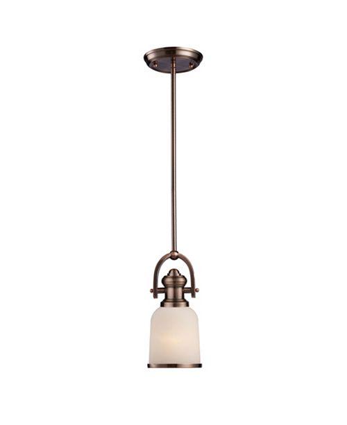 ELK Lighting Brooksdale 1-Light Mini Pendant in Antique Copper