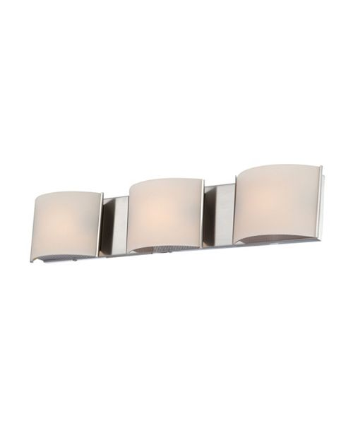 ELK Lighting Pandora Triple Bath and Vanity with White Opal Glass and MSN Finish