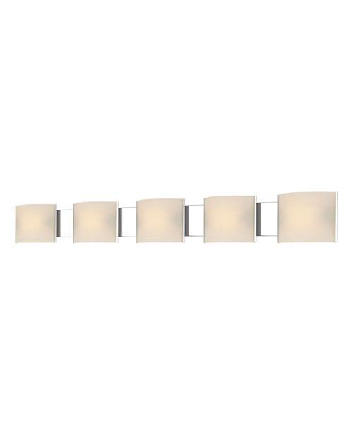 ELK Lighting Pannelli Vanity - 5 Light with Lamps. White Opal Glass / Chrome Finish