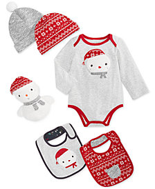 First Impressions Baby Boys or Girls Snowman Collection Separates, Created for Macy's