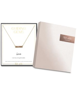 KITSCH Guiding Gems Love Druzy Boxed Necklace