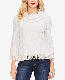 Vince Camuto Fringe Chenille Sweater