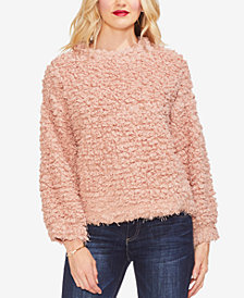 Vince Camuto Bubble Sleeve Popcorn-Texture Sweater