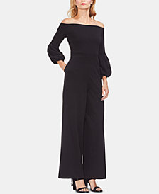 Vince Camuto Off-The-Shoulder Bell-Sleeve Jumpsuit