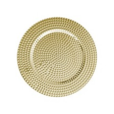 Jay Import Beaded Gold Set/4 Charger Plate