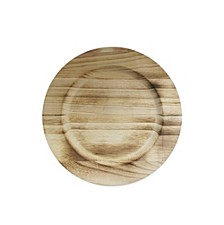 Jay Import Natural Fired Paulownia Wood Charger Plate