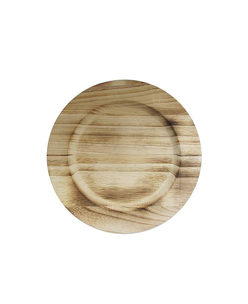 American Atelier Jay Import Natural Fired Paulownia Wood Charger Plate