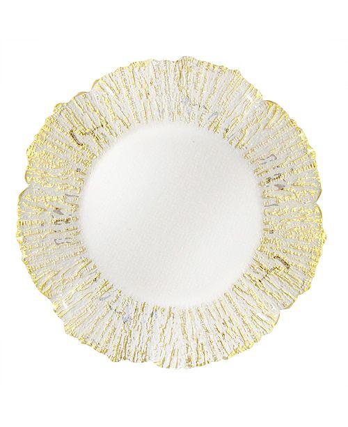 American Atelier Jay Import Deniz Flower Shape Charger Plate