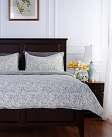 Blanket® Floral Lace Plush Twin Comforter Set