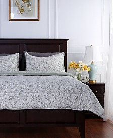 Berkshire Blanket® Floral Lace Plush Twin Comforter Set