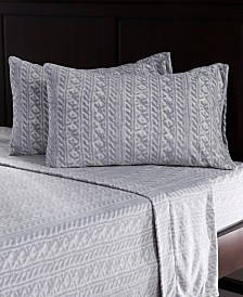 Berkshire Blanket & Home Co.® Knit Print Microfleece Full Sheet Set