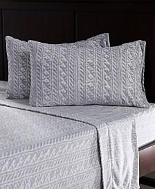Berkshire Blanket & Home Co.® Knit Print Microfleece Queen Sheet Set